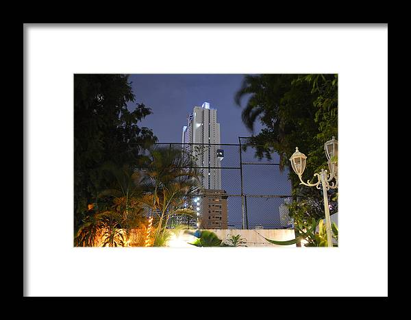Panama Framed Print featuring the photograph Panama City Night Sky by Scott Ingram