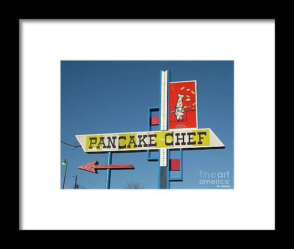 Pancakes Framed Print featuring the digital art Pancake Chef by Jim Zahniser