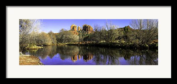 Arizona Framed Print featuring the photograph Panorama At Red Rocks Crossing In Sedona Az by Teri Virbickis