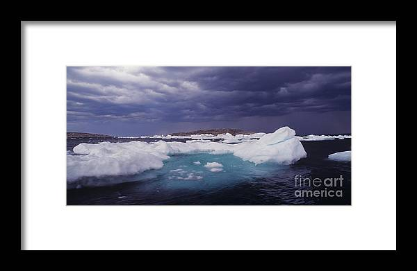 North America Framed Print featuring the photograph Panorama Ice Floes In A Stormy Sea Wager Bay Canada by Dave Welling