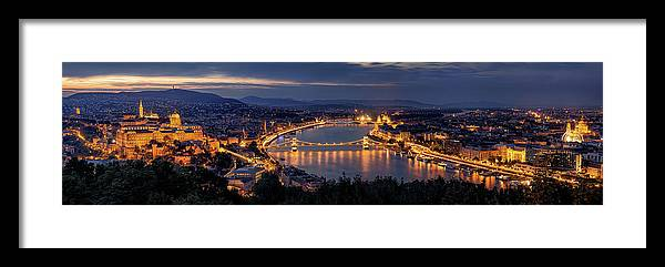 Budapest Framed Print featuring the photograph Panorama Of Budapest by Thomas D M?rkeberg