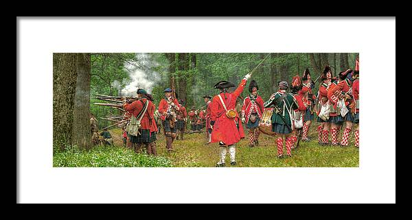 Panoramic Framed Print featuring the photograph Panoramic Battle Of Bushy Run by Randy Steele