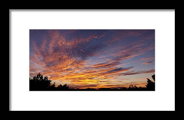 Sunset Framed Print featuring the photograph Panoramic Hill Country Sunset by Paul Huchton