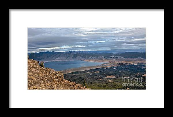 Eastern Idaho Framed Print featuring the photograph Panoramic Of Henry's Lake by Robert Bales