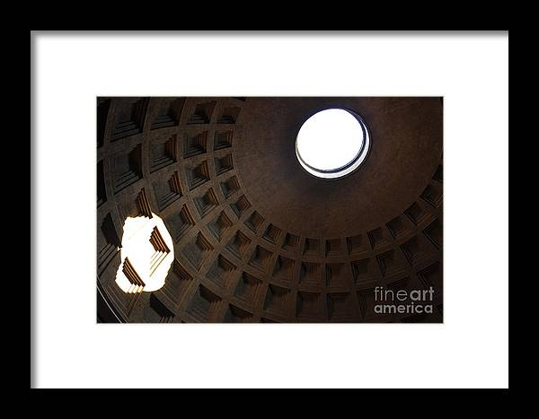 Pantheon Framed Print featuring the photograph Pantheon Dome by Katie Fitzgerald