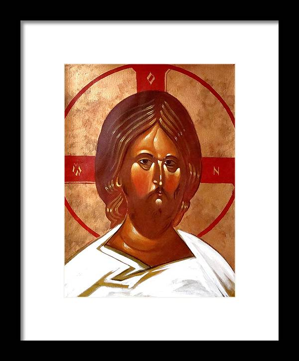 Icon Framed Print featuring the painting Pantocrator by Joseph Malham