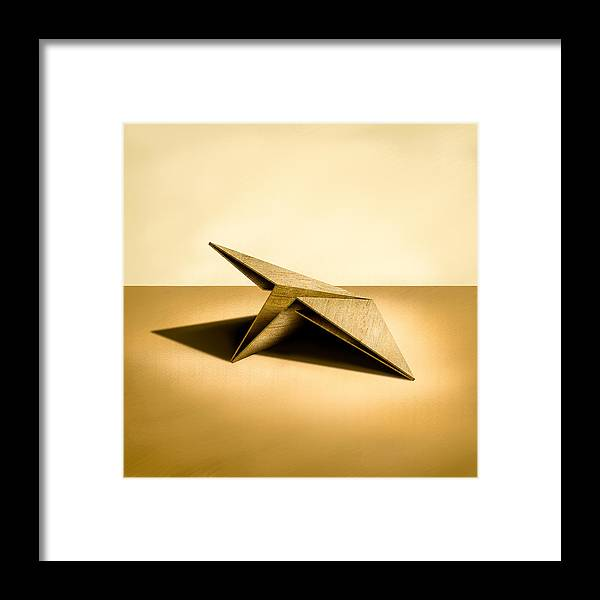 Paper Airplane Framed Print featuring the photograph Paper Airplanes of Wood 7 by YoPedro