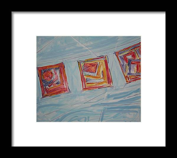 Wind Framed Print featuring the painting Paper In The Wind 2010 by Thomas Griffith
