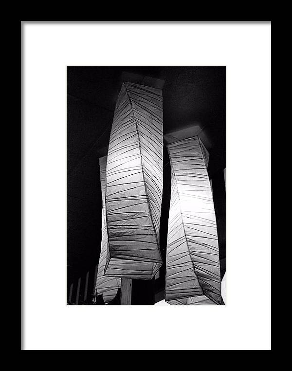 Bob Wall Framed Print featuring the photograph Paper Lampshades by Bob Wall
