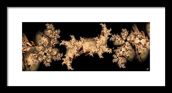 Abstract Framed Print featuring the digital art Paper Mache by Ron Bissett