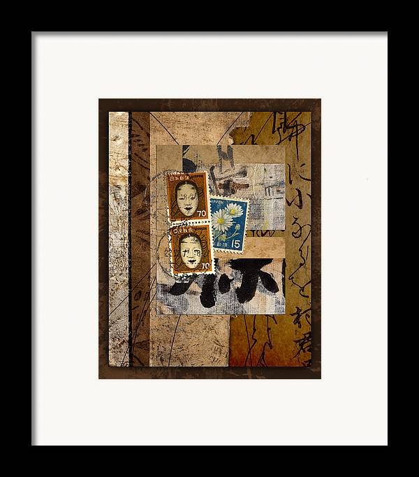 Postage Framed Print featuring the photograph Paper Postage And Paint by Carol Leigh