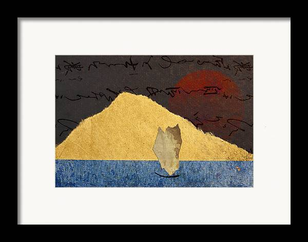 Paper Framed Print featuring the photograph Paper Sail by Carol Leigh