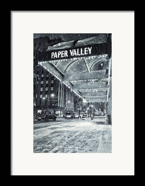 Appleton Framed Print featuring the photograph Paper Valley by Joel Witmeyer