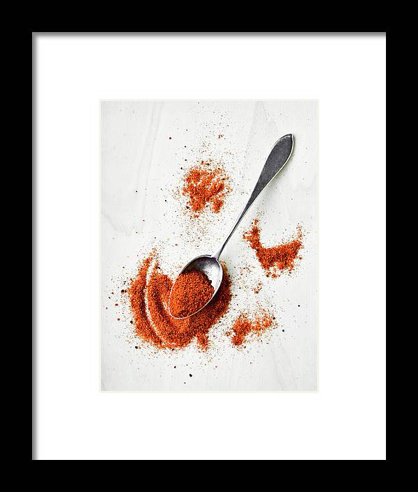 Atlanta Framed Print featuring the photograph Paprika Powder In A Spoon by Natalia Ganelin