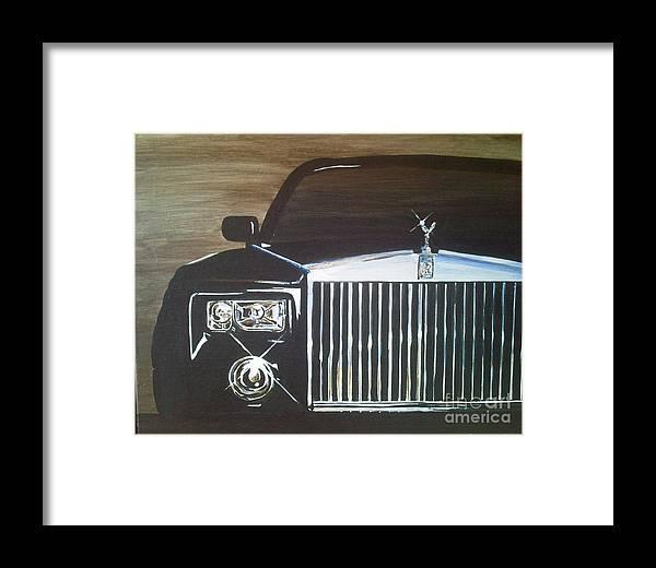 Rolls Royce Framed Print featuring the painting Par De Elegance Rolls Royce Phantom by Richard John Holden RA