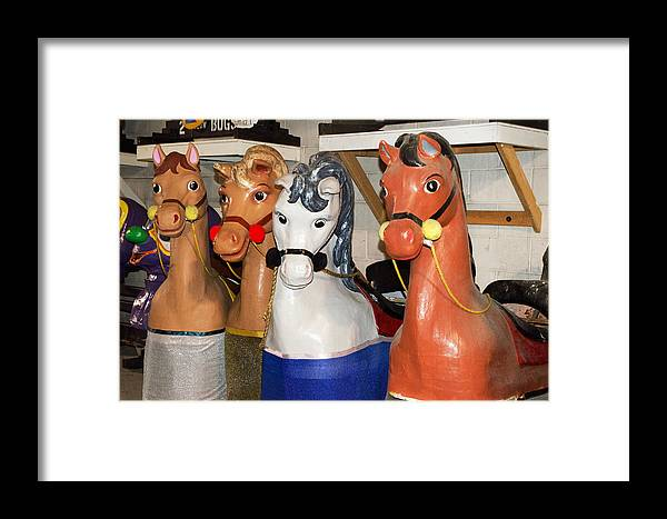 Horses Framed Print featuring the photograph Parade Horses by Cheryl Cencich