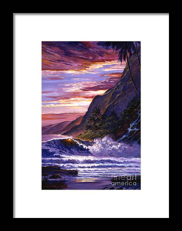 Seascape Framed Print featuring the painting Paradise Beach by David Lloyd Glover