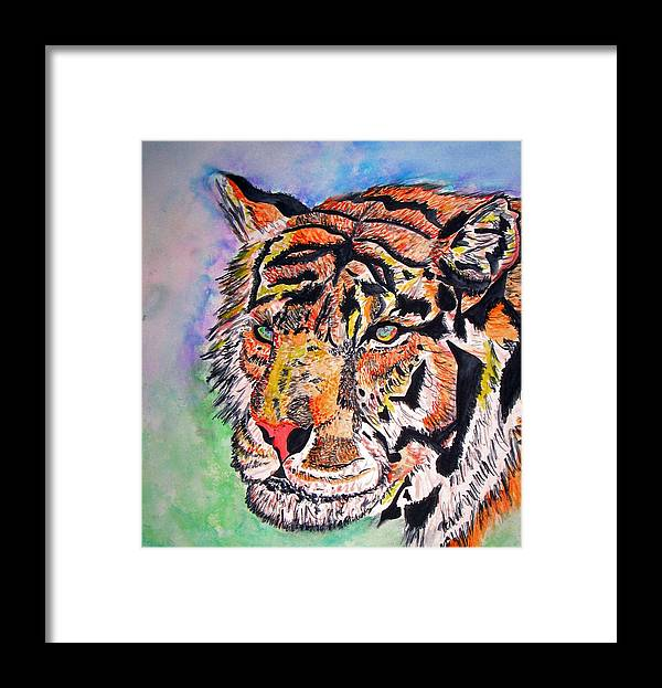 Abstract Framed Print featuring the painting Paradise Dream by Crystal Hubbard