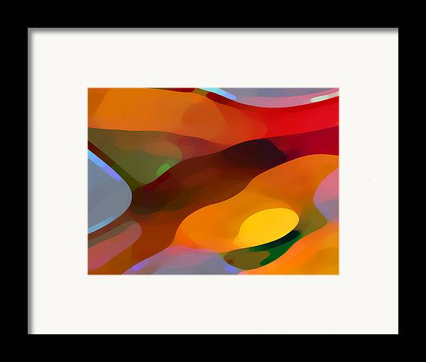 Abstract Framed Print featuring the painting Paradise Found by Amy Vangsgard