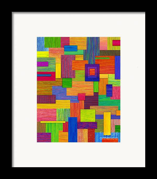 Colored Pencil Framed Print featuring the painting Parallelograms by David K Small