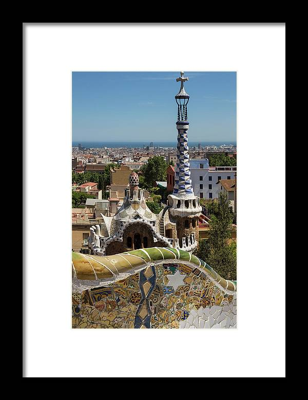 Catalonia Framed Print featuring the photograph Parc Guell - Barcelona - Spain by Steve Allen