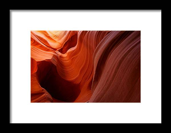 Landscape Antelope Canyon Photographs Arizona Canvas For Sale Iphone Case For Sale Print For Sale Slot Canyon Nature Framed Print featuring the photograph Antelope Canyon Paredes En Fuego by Rafael La O Garcia