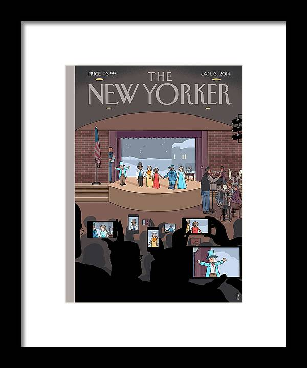 Play Framed Print featuring the painting All Together Now by Chris Ware