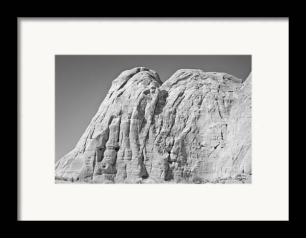 Black Framed Print featuring the photograph Paria Utah X by Dave Gordon
