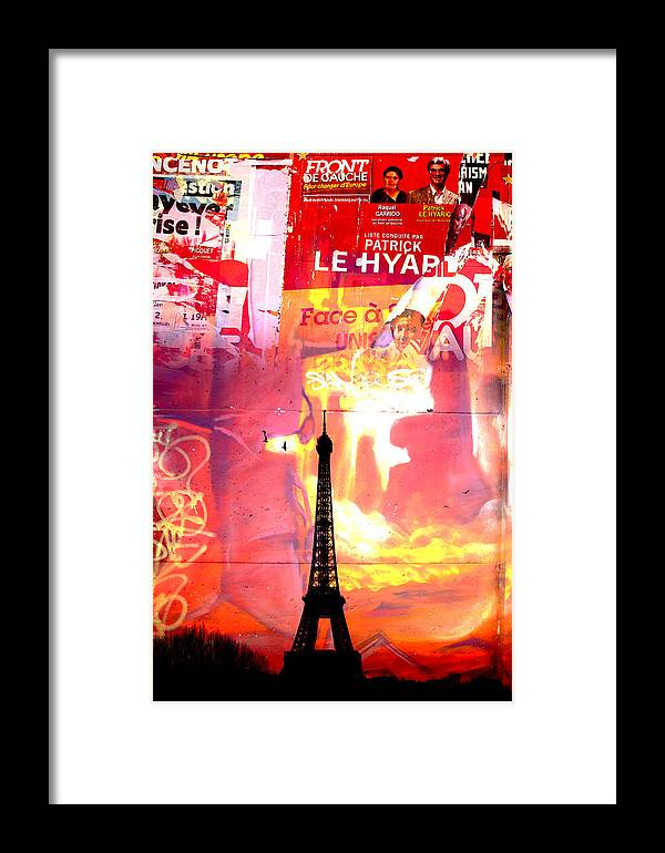 Framed Print featuring the photograph Paris 19 by Jean Schweitzer