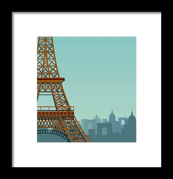Built Structure Framed Print featuring the digital art Paris by Drmakkoy