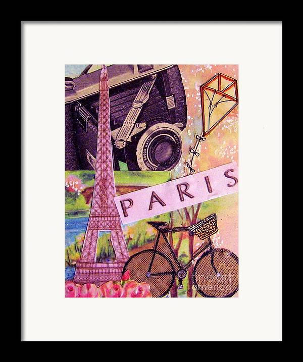 Paris Framed Print featuring the drawing Paris by Eloise Schneider