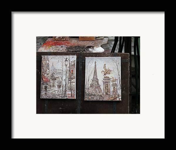 Paris Framed Print featuring the photograph Paris France - Street Scenes - 121225 by DC Photographer
