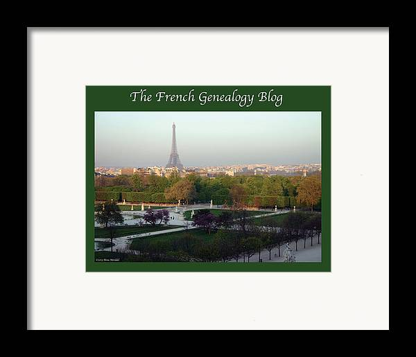 France Framed Print featuring the photograph Paris In The Fall With Fgb Border by A Morddel
