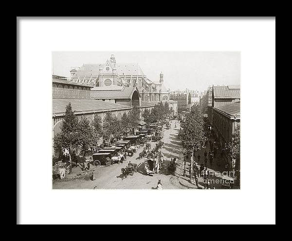 1890s Framed Print featuring the photograph Paris: Les Halles, C1900 by Granger
