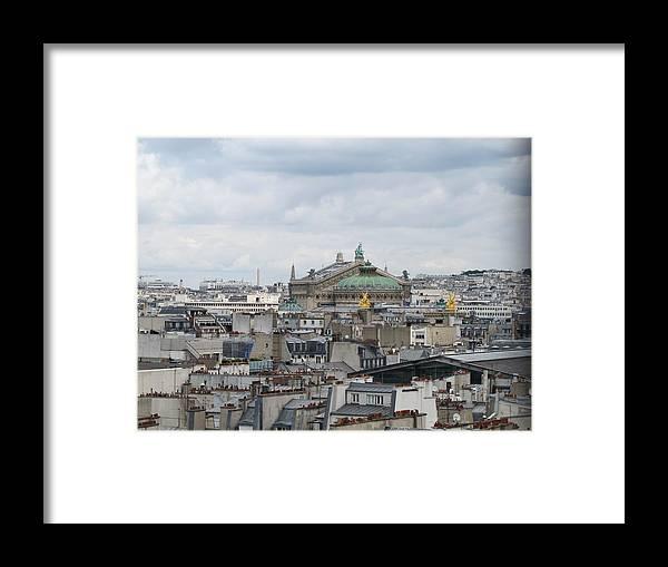 Paris Framed Print featuring the photograph Paris Rooftops by Elizabeth Hardie