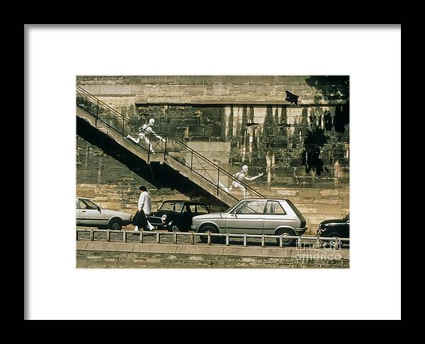 Paris Framed Print featuring the photograph Paris Wall by Thomas Marchessault