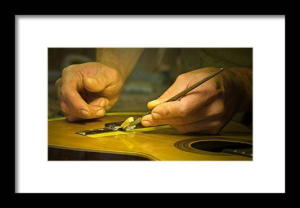 Luthier Framed Print featuring the photograph Parisian Luthier At Work by Kent Sorensen
