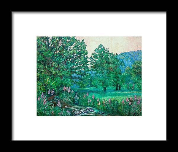Landscape Framed Print featuring the painting Park Road In Radford by Kendall Kessler