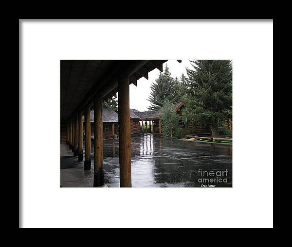 Patzer Framed Print featuring the photograph Parking Lot by Greg Patzer
