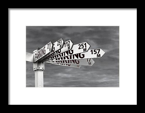 Parking Framed Print featuring the photograph Too Many Parks by Nareeta Martin