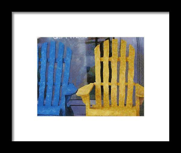 Chair Framed Print featuring the painting Parking Spot by Jeffrey Kolker