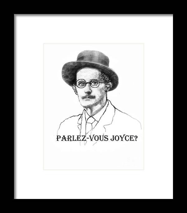 James Joyce Framed Print featuring the painting Parlez-vous Joyce by Jerry Kool