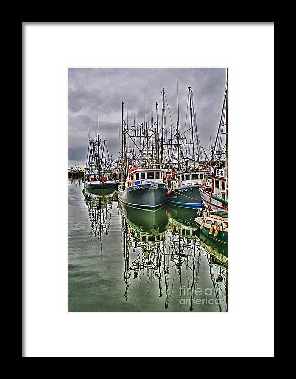 Fishing Boats Framed Print featuring the photograph Parr Four And Old Salt by Randy Harris