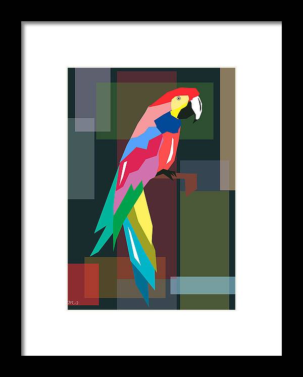 Parrot Framed Print featuring the digital art Parrot by Mark Ashkenazi