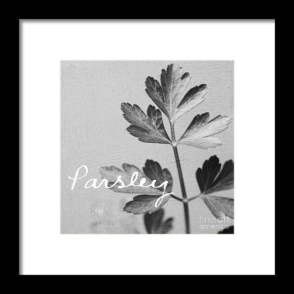 Parsley Framed Print featuring the mixed media Parsley by Linda Woods
