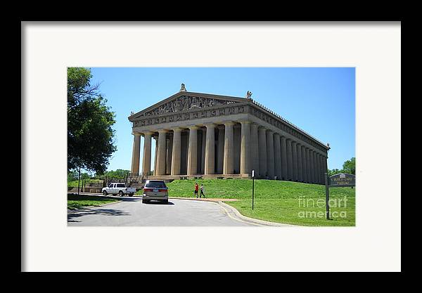 Parthenon Framed Print featuring the photograph Parthenon In Nashville by Paula Talbert