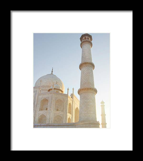 Arch Framed Print featuring the photograph Partial View Taj Mahal by Grant Faint