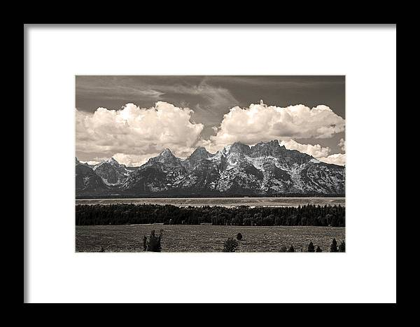Landscape Framed Print featuring the photograph Partly Cloudy by Rusty Kidder