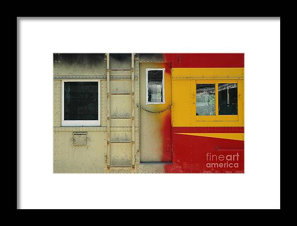 Train Framed Print featuring the photograph Partly Painted by Dan Holm