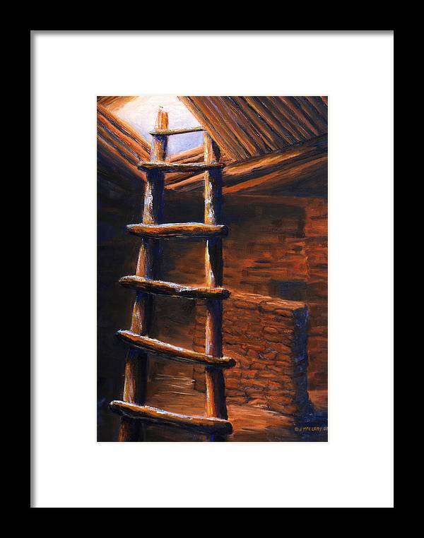 Anasazi Framed Print featuring the painting Passage by Jerry McElroy